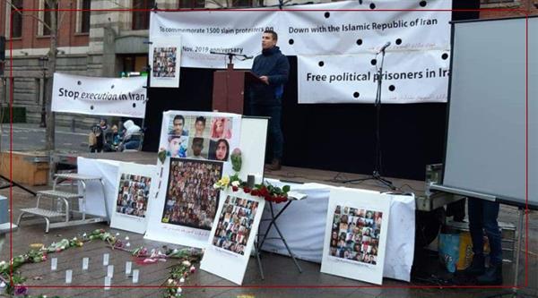 ئامستردام/ ئاکسیۆنێک دژی کۆماری ئیسلامی بەڕێوەچوو